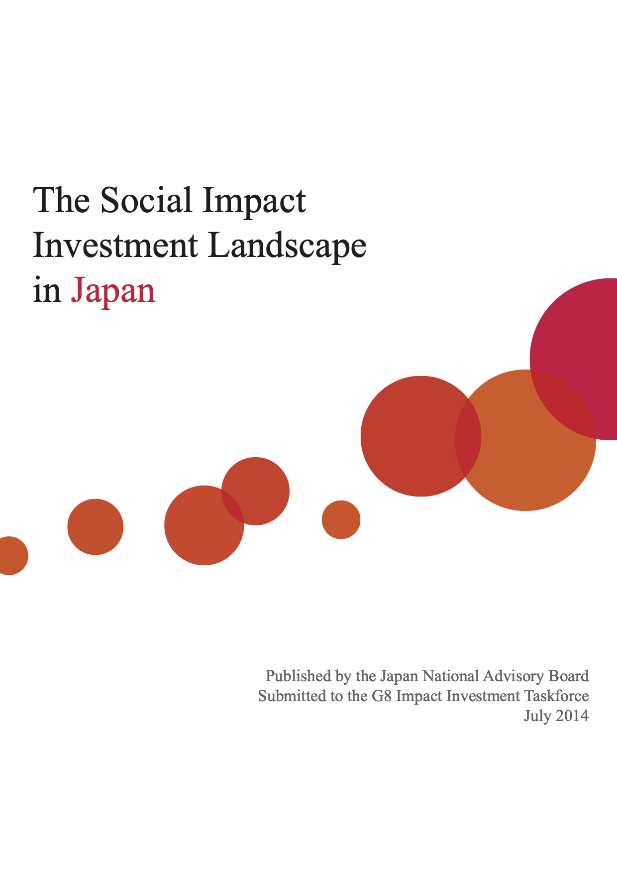 The Social Impact Investment Landscape in Japan 2014