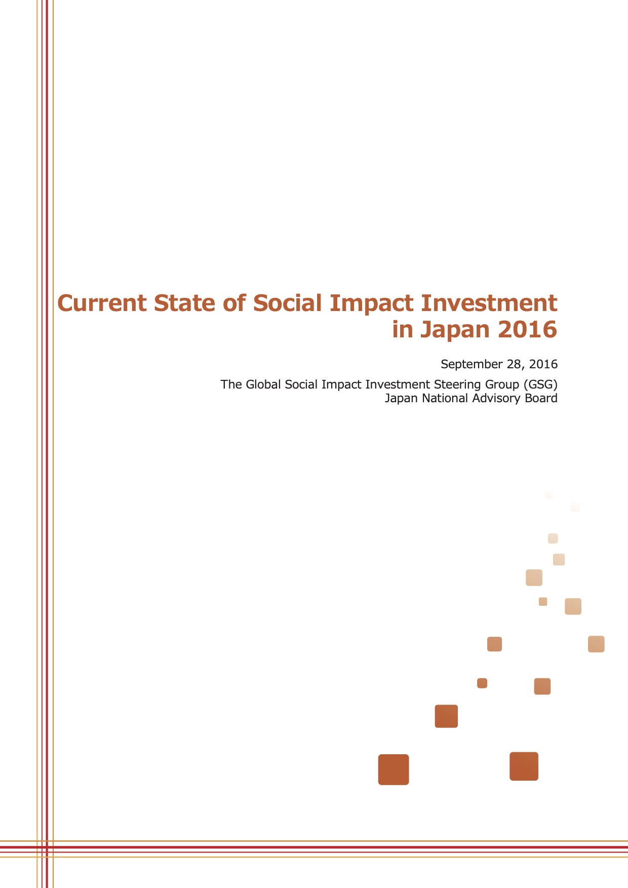 Current State of Social Impact Investment in Japan 2016