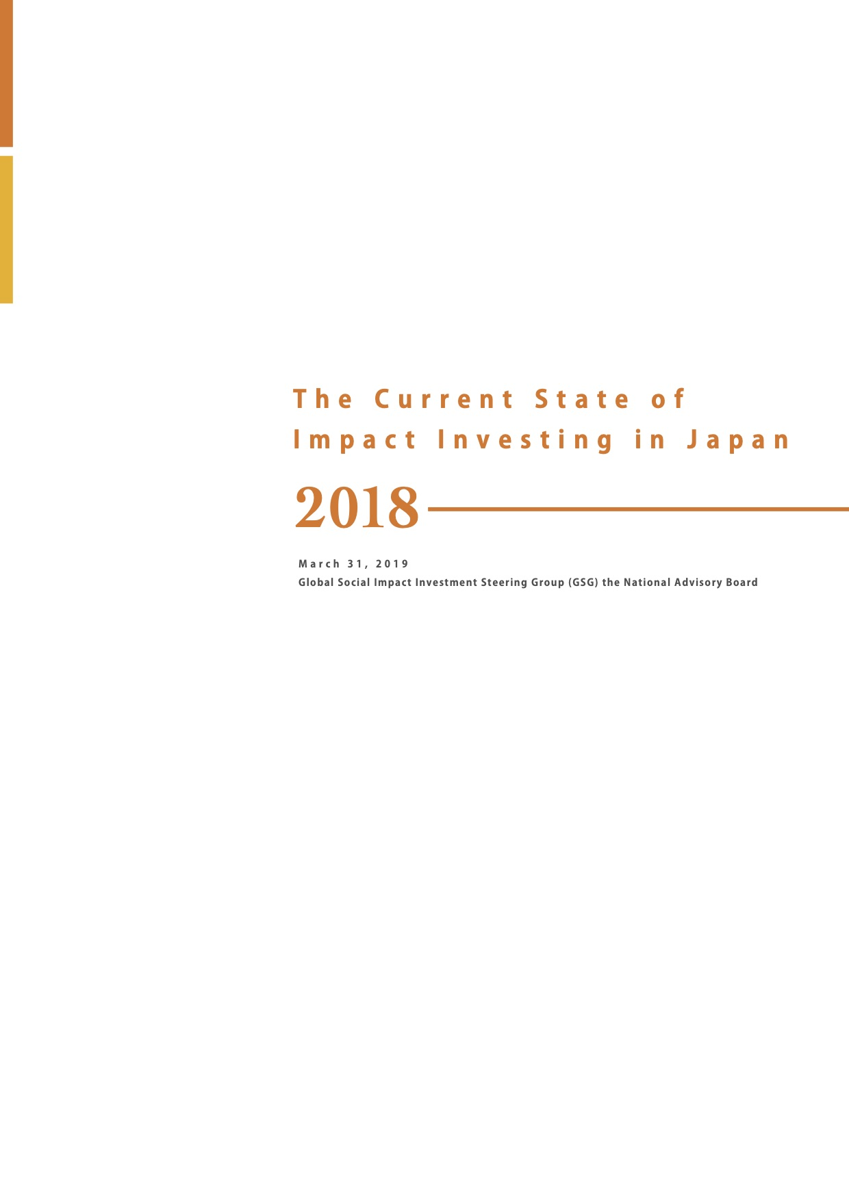 The Current State of Social Impact Investment in Japan 2018
